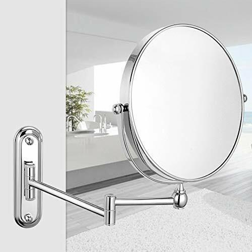 10x Magnification Wall Mounted Mirror Swing Arm Two Sided, 8