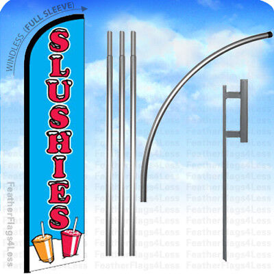 Slushies - Windless Swooper Feather Flag 15 Kit Banner Sign - Bf