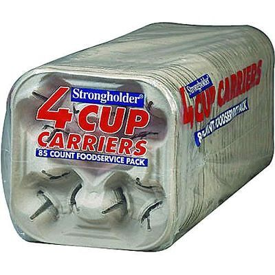 Strongholder 4 Cup Carrier Foodservice Carryout Party Bulk Size 2x85=170Ct Carry Out 4 Cup