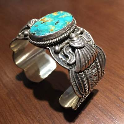Darrell Cadman bangle turquoise morenci Bracelet Rare From JAPAN F/S