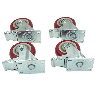 4 Pcs Swivel Caster Wheels 4 All Swivel All Brake Casters Heavy Duty