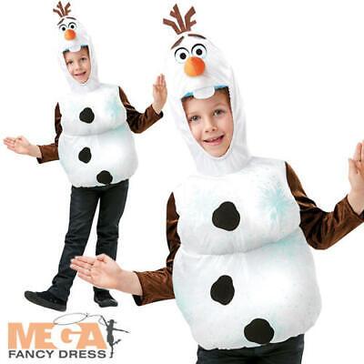 Olaf Padded Top Kids Fancy Dress Disney Frozen Fairy Tale Snowman Boys Costume
