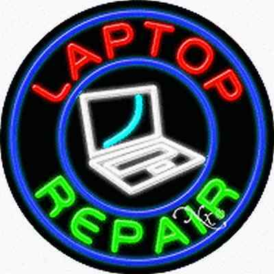 Brand New Laptop Repair 26x26x3 Real Neon Sign Wcustom Options 11325