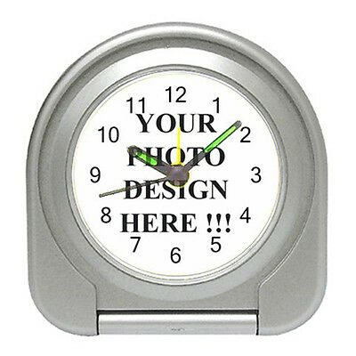 NEW Best PERSONALIZED Custom Your LOGO Design Photo Text for Travel Alarm CLOCK