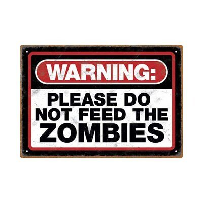 Tin Sign - Zombie - Warning Metal Plate New Licensed Gift Toys 30007