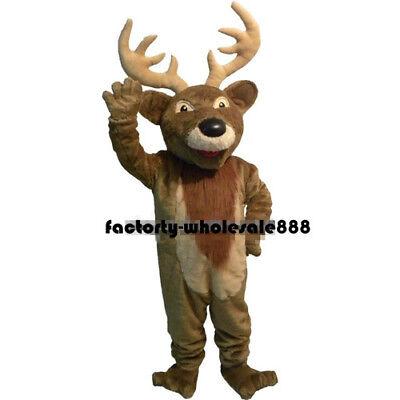 2019 Halloween Christmas Deer Mascot Costume Suit Adult Dress Bithday Party Game