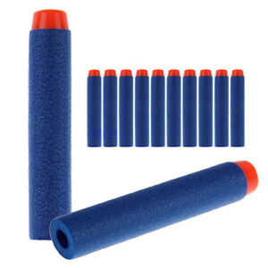 100pcs xKids Refill Toy Gun Bullet Darts Round Head Blasters For NERF N-Strike