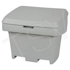 StorAll 500 5.5 cu. ft Salt and Sand Bin Containers in Grey