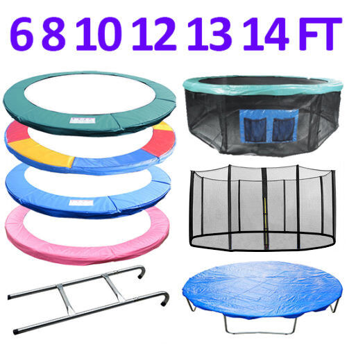 TRAMPOLINE REPLACEMENT PAD PADDING SAFETY NET COVER LADDER SKIRT 6 8 10 12 14FT - 2