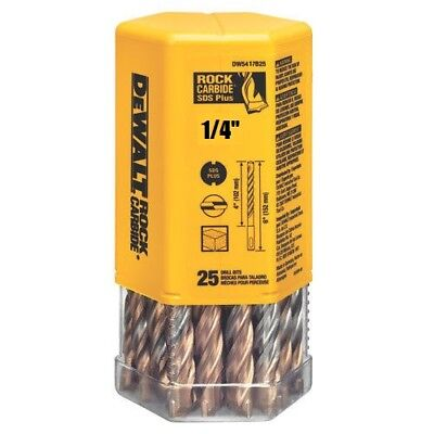 Pack Of 25 Bits Dewalt Dw5417b25 14 X 6 Masonry Drill Bit Sds Plus