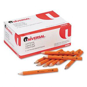 Integra Golf Pencil, 3-1/2-Inch Pre Sharpened, 144/Box, Yellow  ITA30980