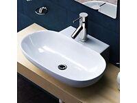 Basin washbasin bathroom new modern oval