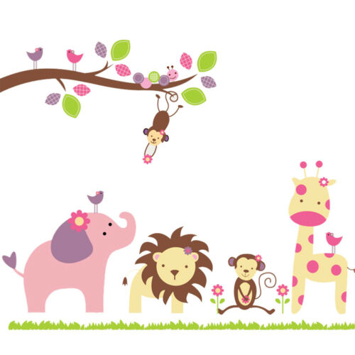DIY Kids Baby Cute Animals Removable Wall Stickers Nursery Room Decor Art Decal