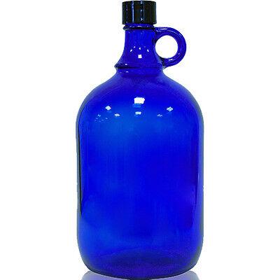 Glasflasche Flasche 2 Liter in blau, super Vorratsgefäß