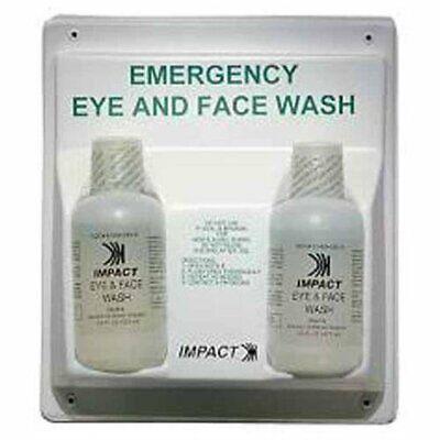 "Impact Products Double Eye / Face Wash Station - 16 Oz - 13"" X 4"" X 11"" - White"