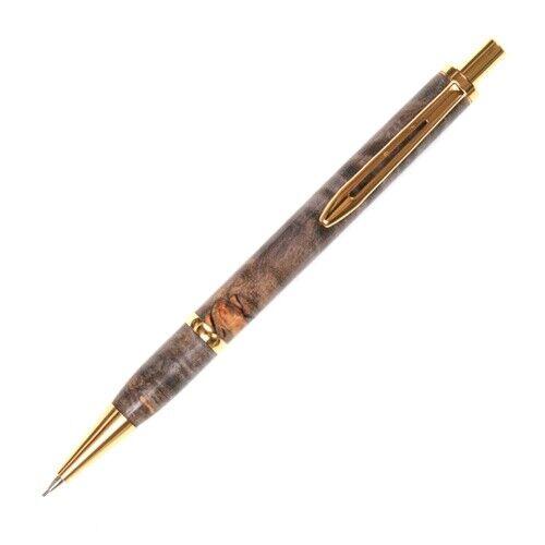 Longwood Pencil - Black & Gray Maple Burl