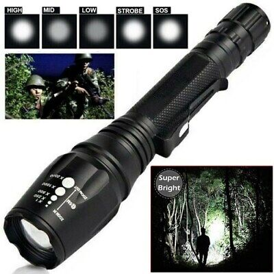 990000Lumens Ultra Brightest High Power T6 LED Police Tactical Flashlight Torch High Power Tactical Flashlight