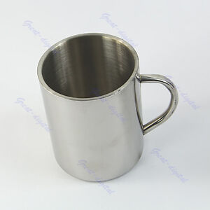 Double-deck Bilayer Cup 450ml Stainless Steel Coffee M