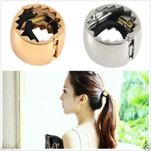 Girls-Hair-Band-Metal-Hair-Cuff-Wrap-Pony-Tail-Holder-Ring-Rope-Circle-HP