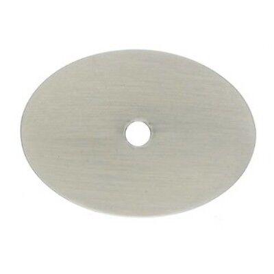 Satin Black Oval Knob (Cabinet Hardware Knob Pull Backplate Oval Black Bronze Satin Nickel 2 Sizes)
