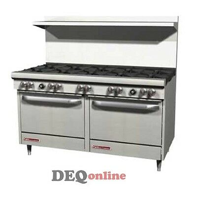 Southbend S60dd 60 Gas Range W10 Burners And 2 Standard Ovens