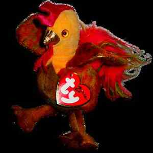 Rooster the Zodiac rooster Ty Beanie Baby stuffed animal