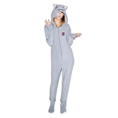 Big Bang Theory Soft Kitty Hooded Bodysuit Removable Feet M Halloween - Big Bang Theory Halloween