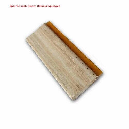 5pcs Durability 75 Durometer 6.3 inch (16cm) Oiliness Squeegee USA Stock Newest
