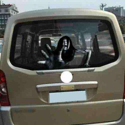 1PCS 3D Auto Heckscheibe Aufkleber Transparent Halloween Horror Monster DE
