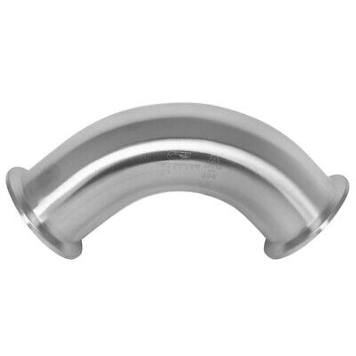 90 Degree Sanitary Stainless Steel Elbow Tri Clamp Ferrule Fitting 3 304