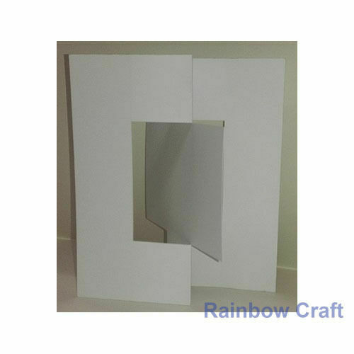 10 Blank Cards & Envelopes / Scallop Edge / step card / DL / Horizontal / Swing - Swing Card