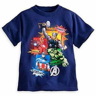 Disney Store Marvel Avengers Short Sleeve T Shirt Boy Size M 7/8 ](Disney Boys Clothes)