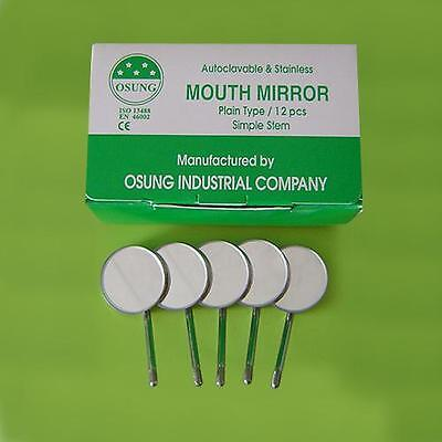 Dental Mouth Mirror 3 Simple Stem 12 Pcs B38-1