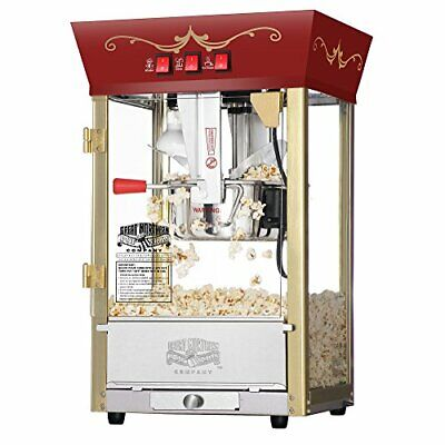 Great Northern Popcorn Red Matinee Movie Theater Style Antique Popcorn Machine