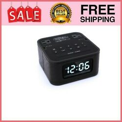 Radio Alarm Clock Charger with 2 Outlets and 2 USB Ports Charging Station / W...