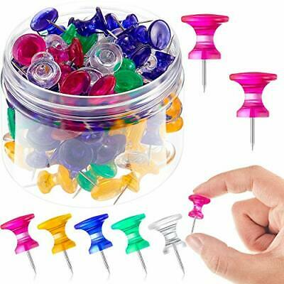 100 Pieces Giant Push Pins 1 Inch Standard Steel Point And Plastic Head