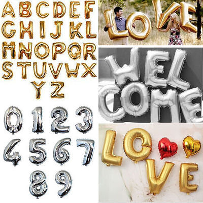 Silver Foil Number Balloons (16
