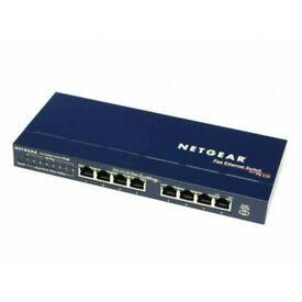 NETGEAR 8-Port FS108 Fast Ethernet 10/100Mbps ProSafe Unmanaged Desktop Switch