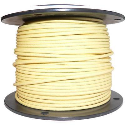 1M Algodón Trenzado Eléctrico Del Automóvil Cable 16 Calibre Amarillo