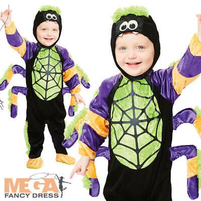 Spooky Spider Kids Fancy Dress Halloween Boys Girls Toddlers Childrens - Spooky Kids Kostüm