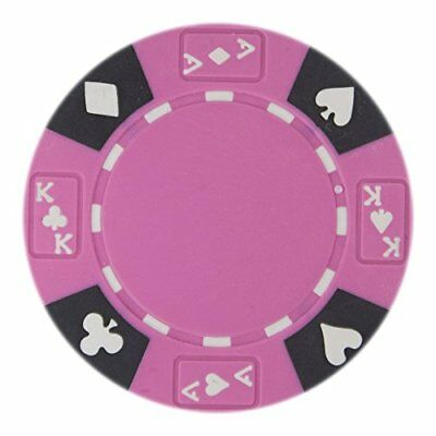 Ace King Poker Chips - Ace King Suited Non-Denominated 14g Poker Chips, Pink, 50-pack