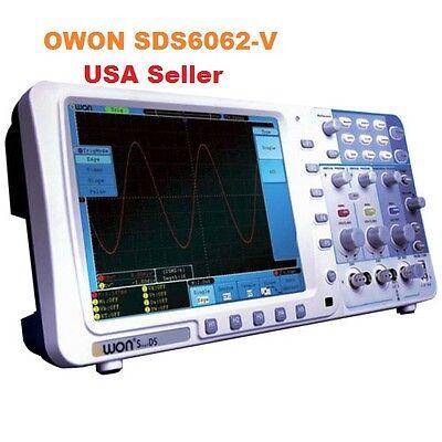 Memory Digital Storage Oscilloscope Owon Sds6062-v 60mhz 2ch 8 Vgabattery