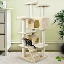 Deluxe 132cm Tall Cat Kitten Tree Play House Scratching Post Bed Canley Heights Fairfield Area Preview