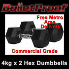 Rubber Fixed Weight Dumbbells