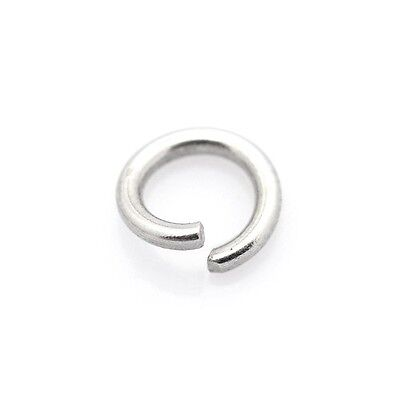 Packet of 100+ Silver Stainless Steel 1 x 6mm Jump Rings Y01780
