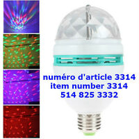 E27 Crystal 3W LED RGB Stage Rotating Colorful Light Bulb Lamp
