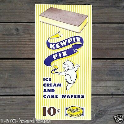 Vintage Original 1930 KEWPIE PIE ICE CREAM SANDWICH Grocery Store Poster O'Neill
