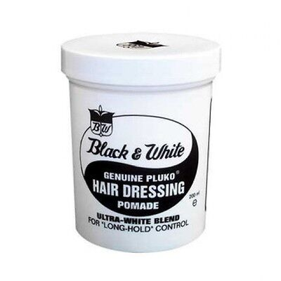 Black & White Genuine Pluko Hair Dressing Pomade waterproof with coconut oil (Coconut Pomade)
