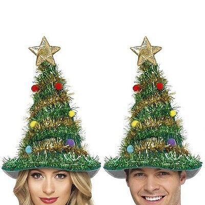 Albero di Natale Costume Cappello con Decorazione Uomo Donna Unisex da Smiffys