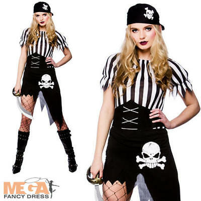 Sexy Pirate Ladies Halloween Fancy Dress Womens Adults Pirate Costume Outfit New ()